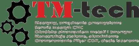 Logo firmy TM-TECH z wyszczególnionymi rodzajami prowadzonej działalności